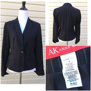🆕 Anne Klein Stretch Pinstripes Blazer !